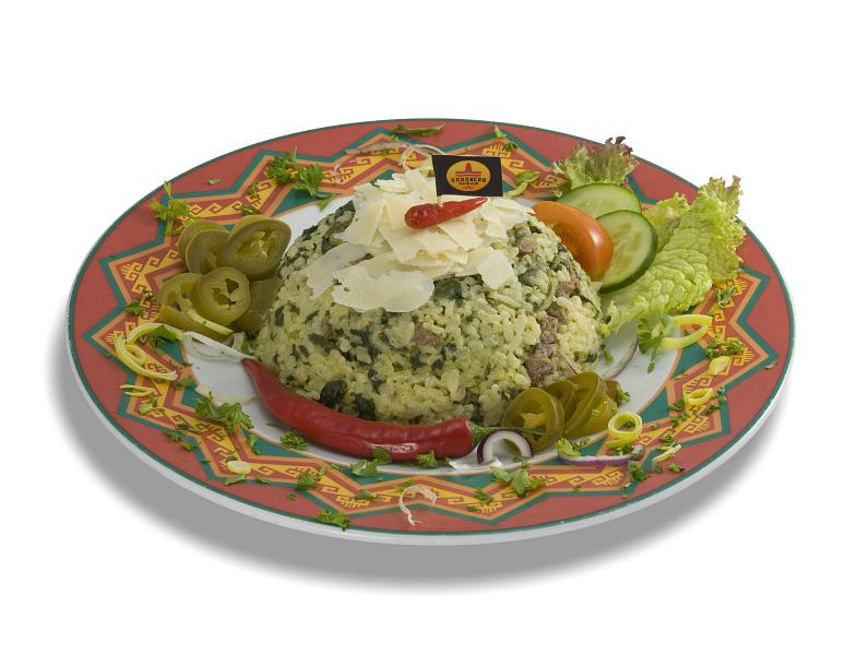 Špenátové rizoto s hovädzím mäskom